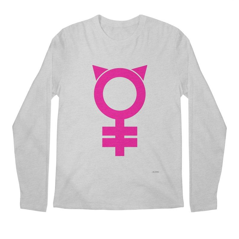 Feminism = Equality, #pussyhat Edition (pink) Men's Longsleeve T-Shirt by J.BJÖRK: minimalist printed artworks