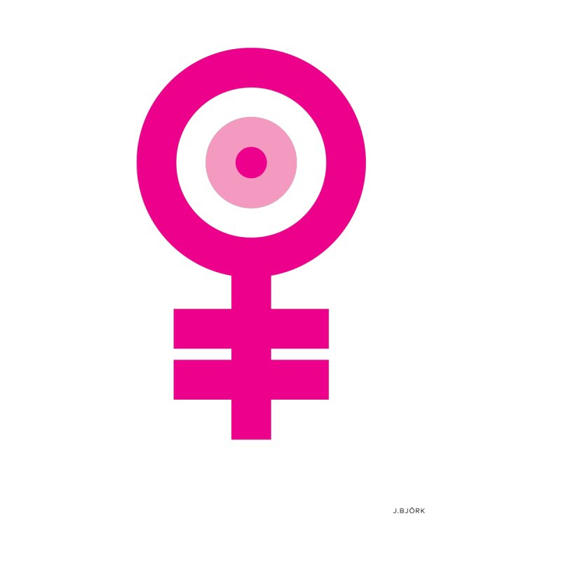 Feminism = Equality, Motherhood Edition (pink) Home Framed Fine Art Print by J.BJÖRK: minimalist printed artworks