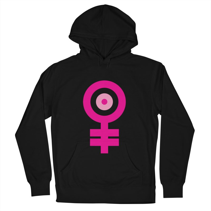 Feminism = Equality, Motherhood Edition (pink) Men's French Terry Pullover Hoody by J.BJÖRK: minimalist printed artworks