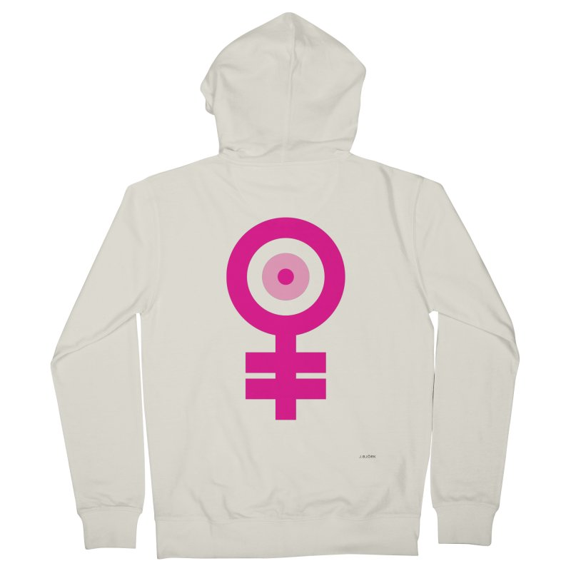 Feminism = Equality, Motherhood Edition (pink) Men's Zip-Up Hoody by J.BJÖRK: minimalist printed artworks