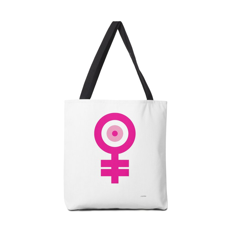Feminism = Equality, Motherhood Edition (pink) Accessories Bag by J.BJÖRK: minimalist printed artworks