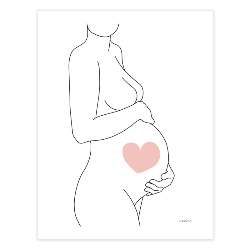 Mother Love (white) Home Fine Art Print by J.BJÖRK: minimalist printed artworks