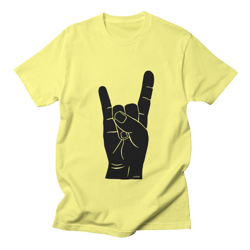 Hand Signals: Sign of the Horns Women's Regular Unisex T-Shirt by J.BJÖRK: minimalist printed artworks