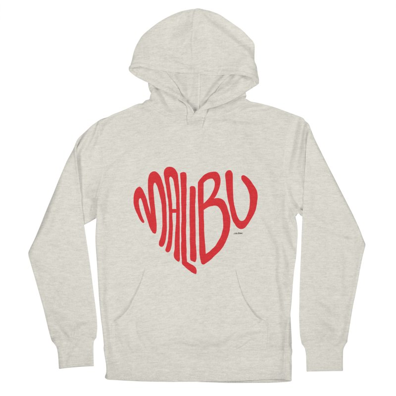 Malibu Love Women's French Terry Pullover Hoody by J.BJÖRK: minimalist printed artworks