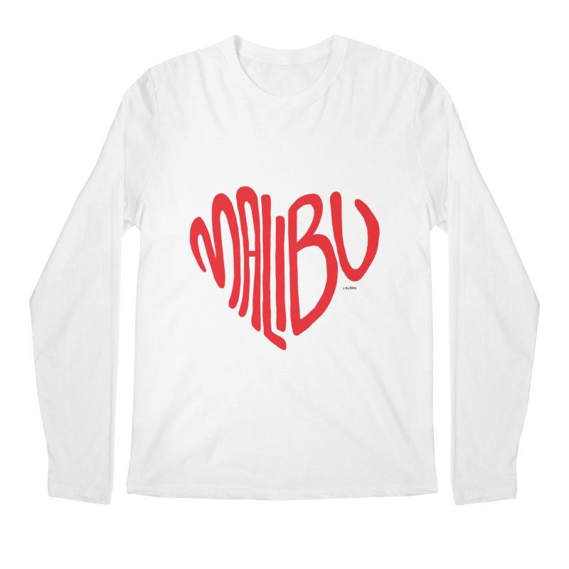 Malibu Love Men's Regular Longsleeve T-Shirt by J.BJÖRK: minimalist printed artworks