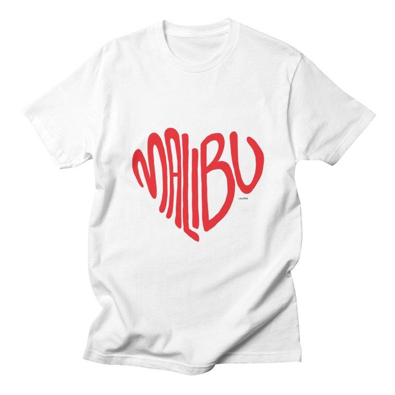 Malibu Love Men's Regular T-Shirt by J.BJÖRK: minimalist printed artworks