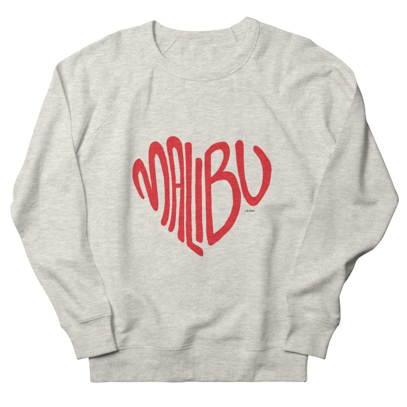 Malibu Love Women's French Terry Sweatshirt by J.BJÖRK: minimalist printed artworks