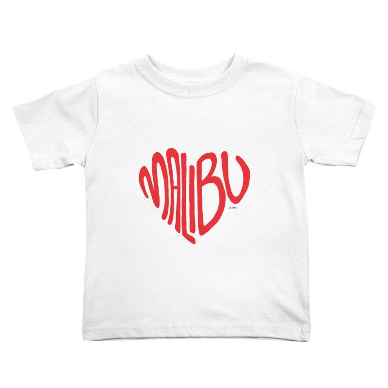 Malibu Love Kids Toddler T-Shirt by J.BJÖRK: minimalist printed artworks