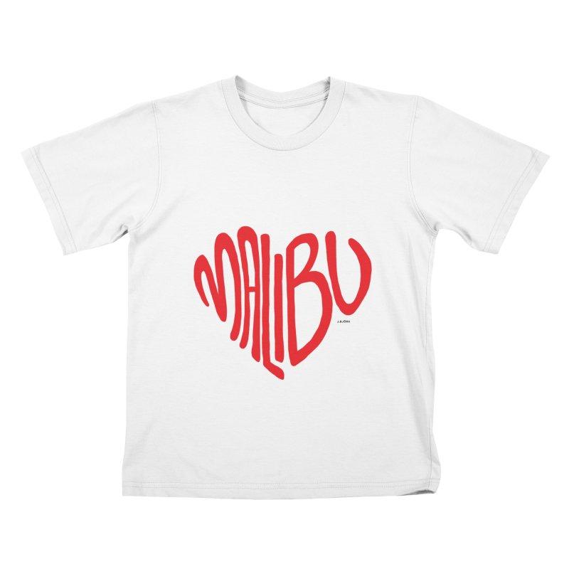 Malibu Love Kids T-Shirt by J.BJÖRK: minimalist printed artworks