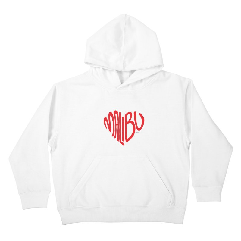 Malibu Love Kids Pullover Hoody by J.BJÖRK: minimalist printed artworks