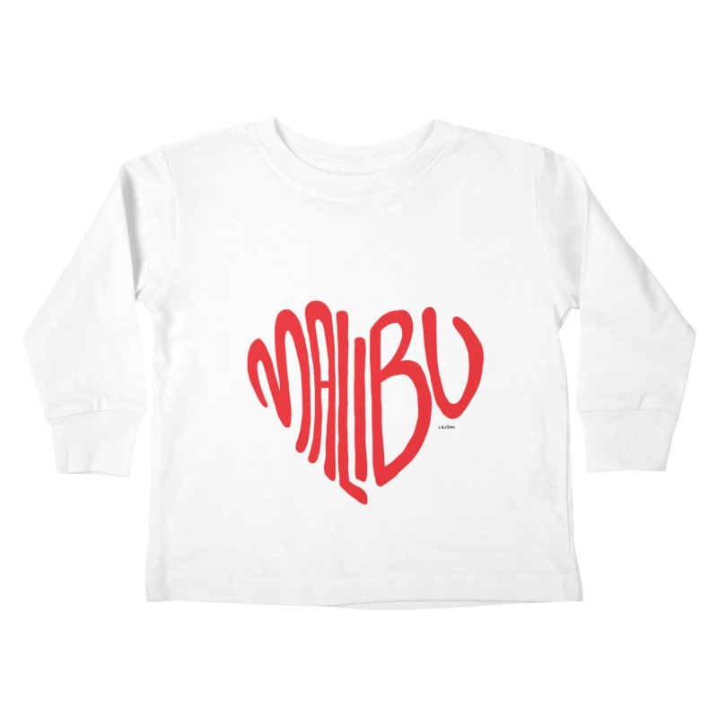 Malibu Love Kids Toddler Longsleeve T-Shirt by J.BJÖRK: minimalist printed artworks