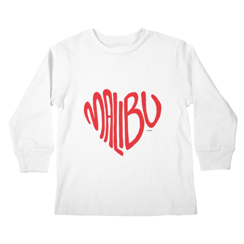 Malibu Love Kids Longsleeve T-Shirt by J.BJÖRK: minimalist printed artworks