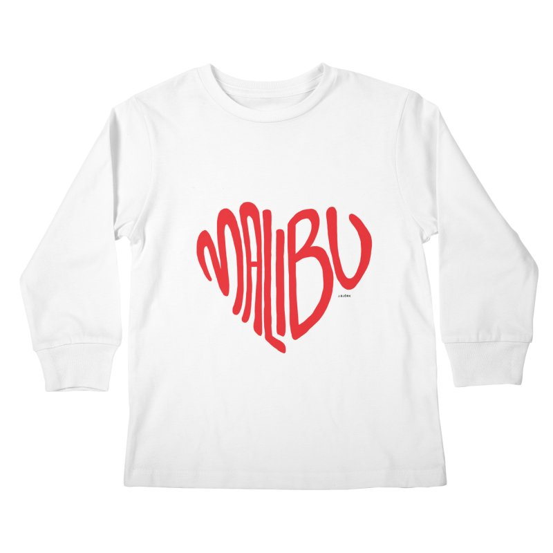 Malibu Love Kids Longsleeve T-Shirt by J.BJÖRK: minimalist printed artworks