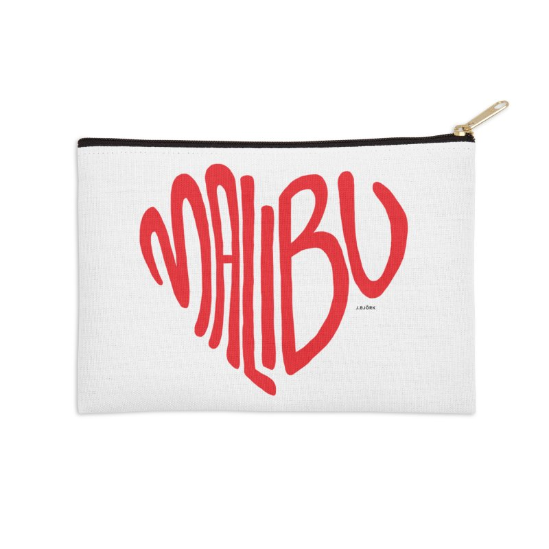 Malibu Love Accessories Zip Pouch by J.BJÖRK: minimalist printed artworks