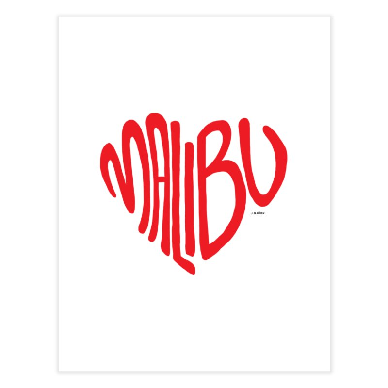 Malibu Love Home Fine Art Print by J.BJÖRK: minimalist printed artworks