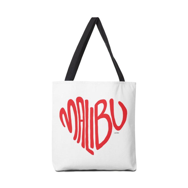 Malibu Love Accessories Tote Bag Bag by J.BJÖRK: minimalist printed artworks
