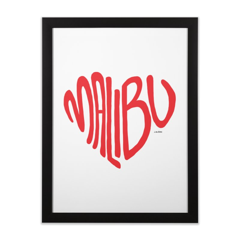 Malibu Love Home Framed Fine Art Print by J.BJÖRK: minimalist printed artworks
