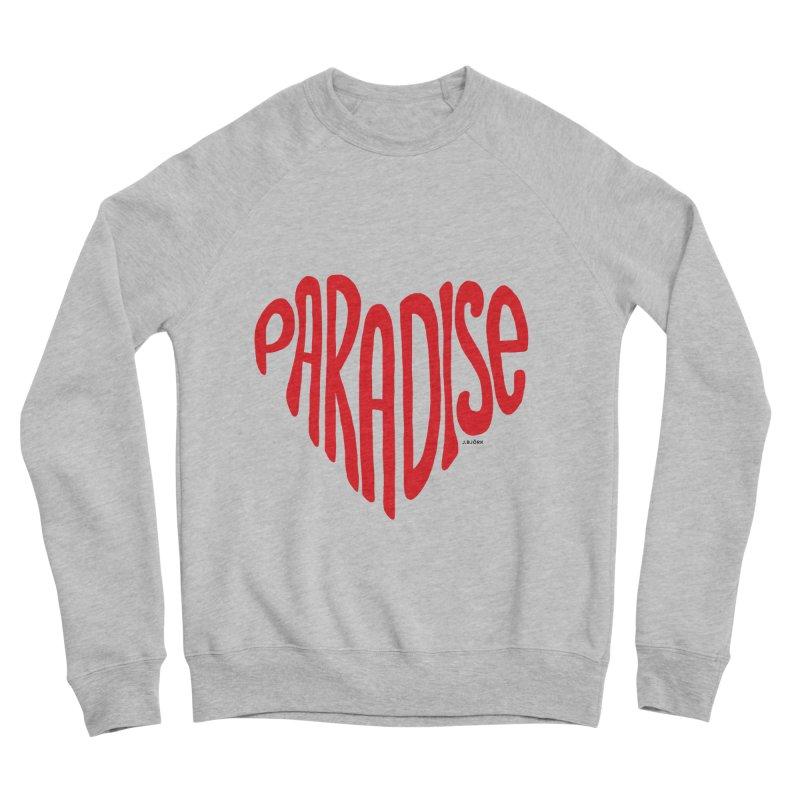 Paradise Love Women's Sponge Fleece Sweatshirt by J.BJÖRK: minimalist printed artworks