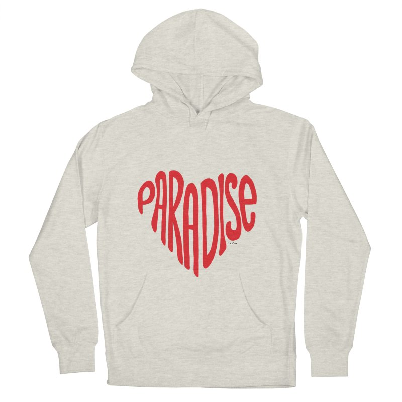 Paradise Love Women's French Terry Pullover Hoody by J.BJÖRK: minimalist printed artworks