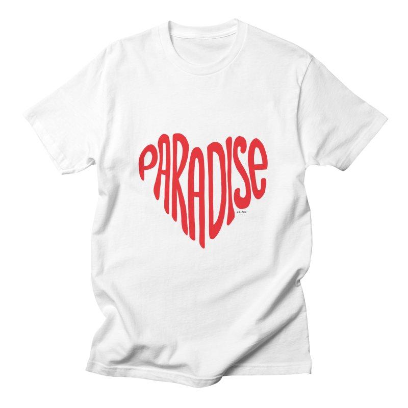 Paradise Love Men's Regular T-Shirt by J.BJÖRK: minimalist printed artworks