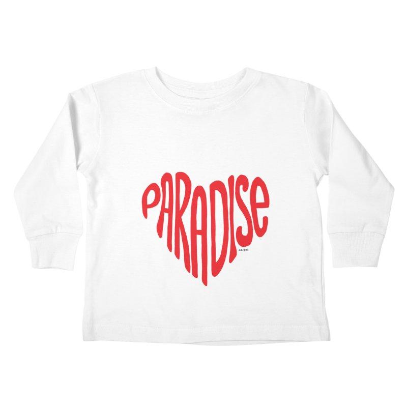 Paradise Love Kids Toddler Longsleeve T-Shirt by J.BJÖRK: minimalist printed artworks