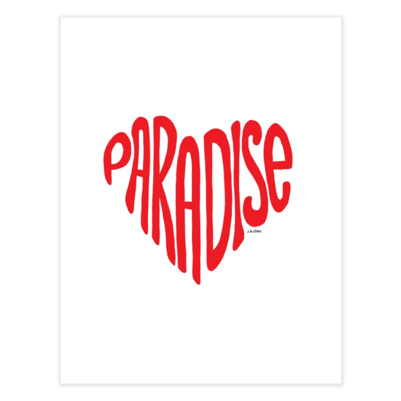 Paradise Love Home Fine Art Print by J.BJÖRK: minimalist printed artworks