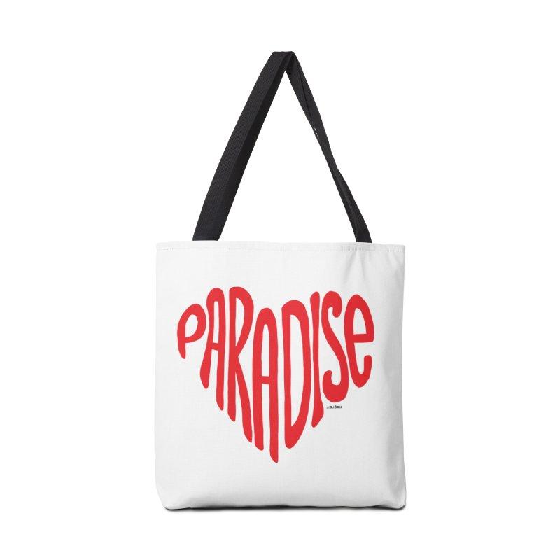 Paradise Love Accessories Tote Bag Bag by J.BJÖRK: minimalist printed artworks