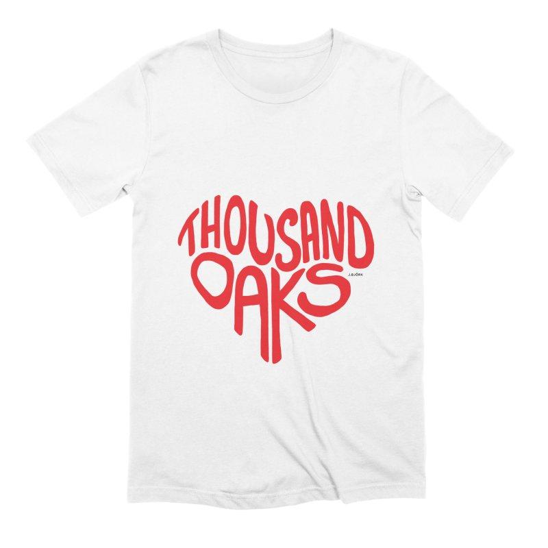 1000 Oaks Love Men's Extra Soft T-Shirt by J.BJÖRK: minimalist printed artworks