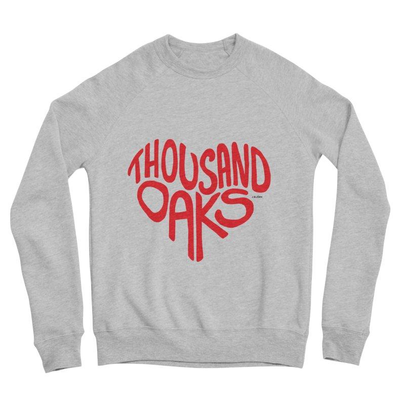 1000 Oaks Love Women's Sponge Fleece Sweatshirt by J.BJÖRK: minimalist printed artworks