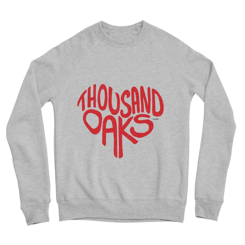 1000 Oaks Love Men's Sponge Fleece Sweatshirt by J.BJÖRK: minimalist printed artworks