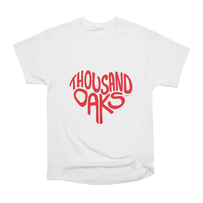 1000 Oaks Love Women's Heavyweight Unisex T-Shirt by J.BJÖRK: minimalist printed artworks