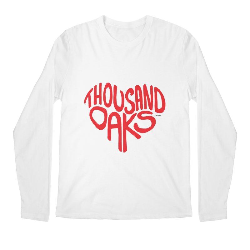 1000 Oaks Love Men's Regular Longsleeve T-Shirt by J.BJÖRK: minimalist printed artworks