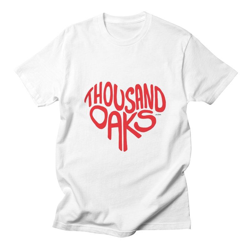 1000 Oaks Love Women's Regular Unisex T-Shirt by J.BJÖRK: minimalist printed artworks