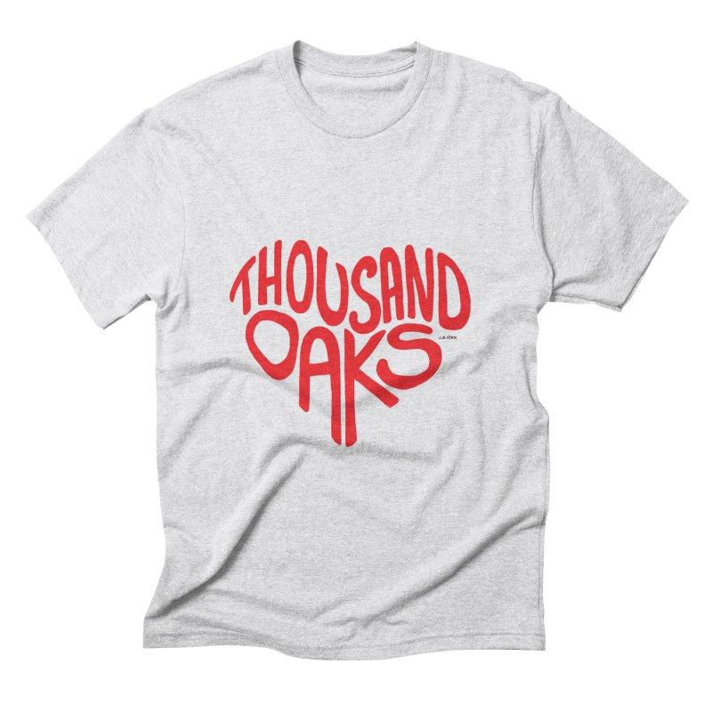 1000 Oaks Love Men's Triblend T-Shirt by J.BJÖRK: minimalist printed artworks