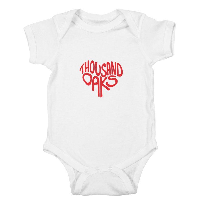 1000 Oaks Love Kids Baby Bodysuit by J.BJÖRK: minimalist printed artworks