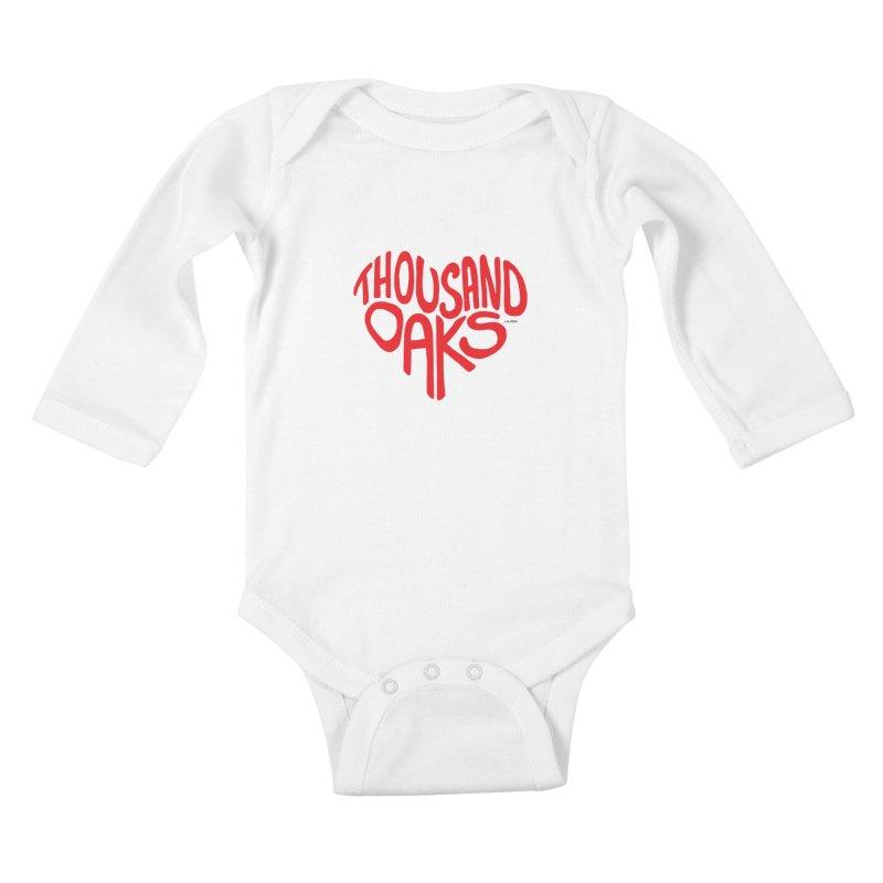 1000 Oaks Love Kids Baby Longsleeve Bodysuit by J.BJÖRK: minimalist printed artworks