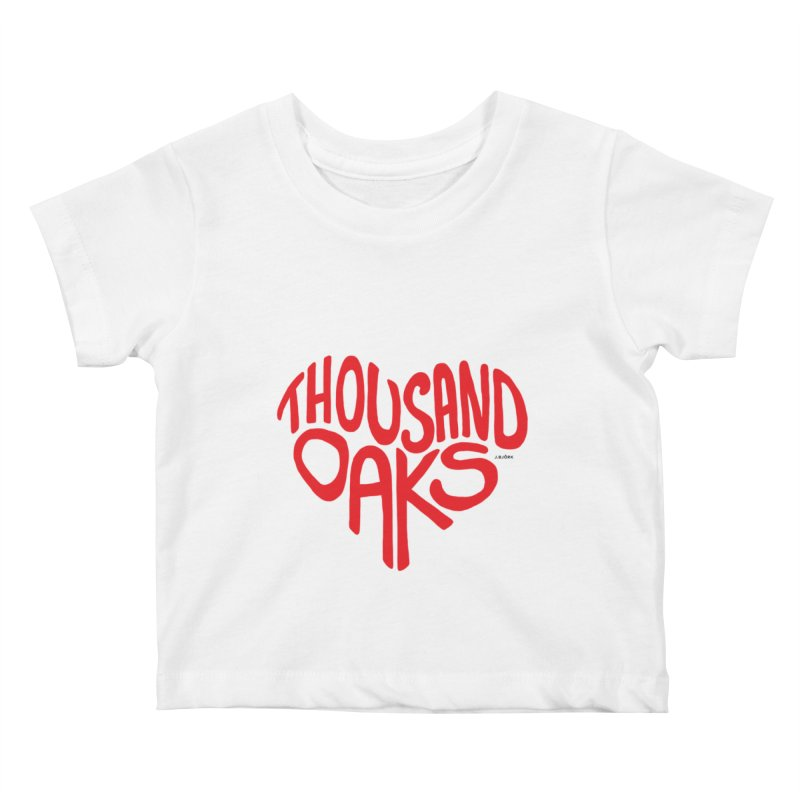 1000 Oaks Love Kids Baby T-Shirt by J.BJÖRK: minimalist printed artworks