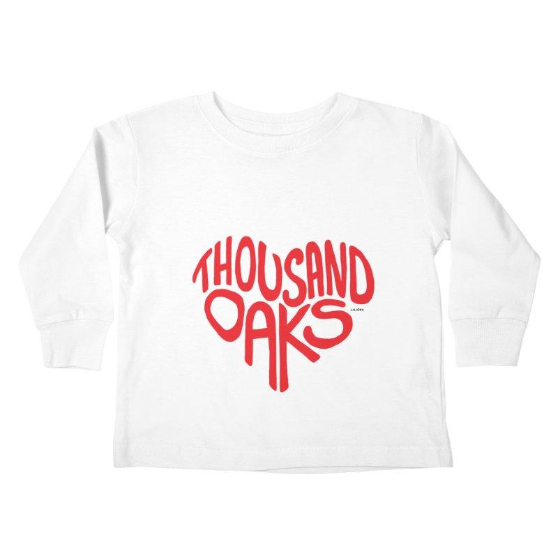 1000 Oaks Love Kids Toddler Longsleeve T-Shirt by J.BJÖRK: minimalist printed artworks