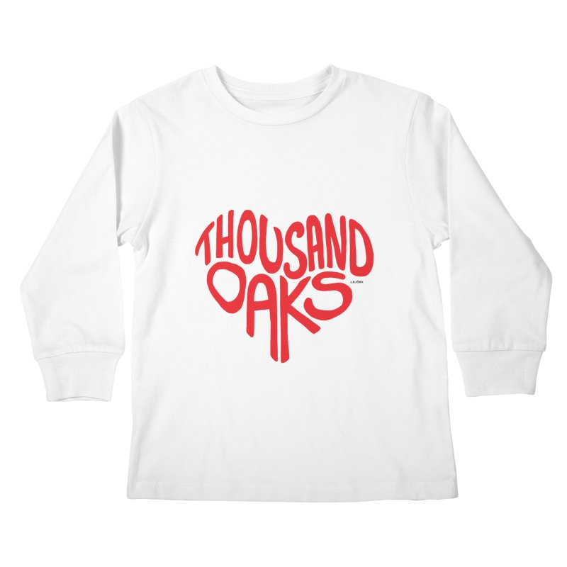 1000 Oaks Love Kids Longsleeve T-Shirt by J.BJÖRK: minimalist printed artworks
