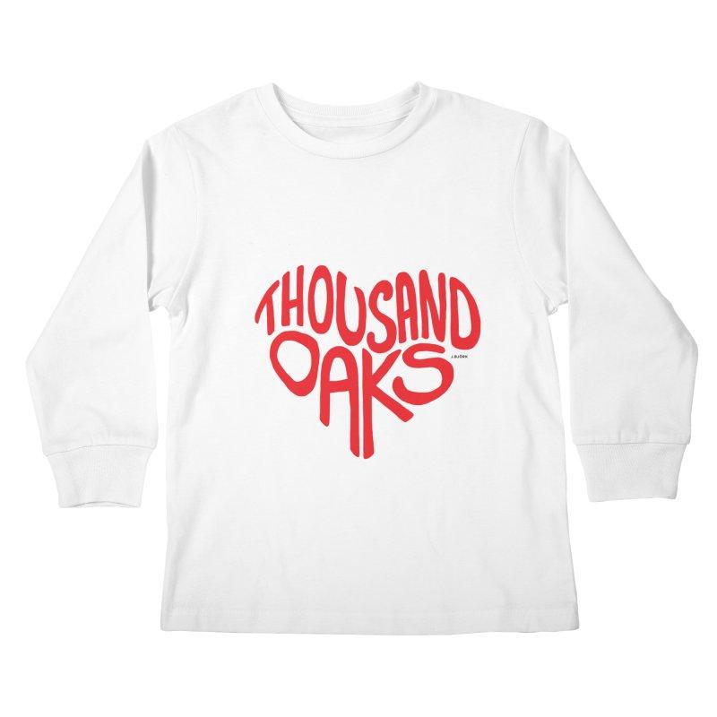 1000 Oaks Love Kids Longsleeve T-Shirt by J.BJÖRK: minimalist printed artworks