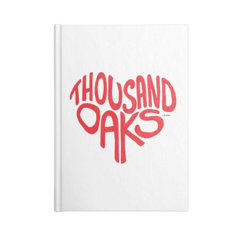 1000 Oaks Love Accessories Blank Journal Notebook by J.BJÖRK: minimalist printed artworks