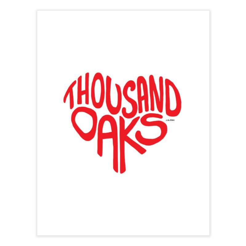 1000 Oaks Love Home Fine Art Print by J.BJÖRK: minimalist printed artworks