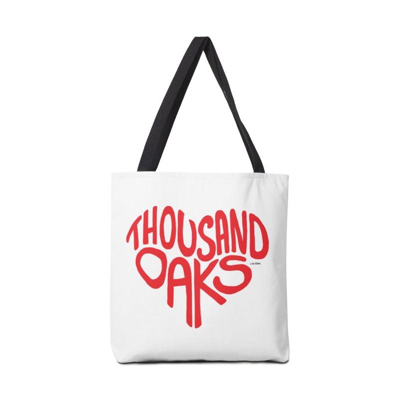 1000 Oaks Love Accessories Tote Bag Bag by J.BJÖRK: minimalist printed artworks