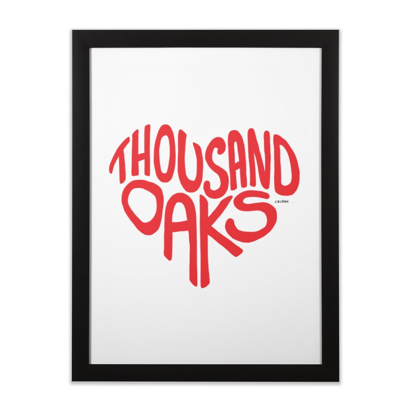 1000 Oaks Love Home Framed Fine Art Print by J.BJÖRK: minimalist printed artworks