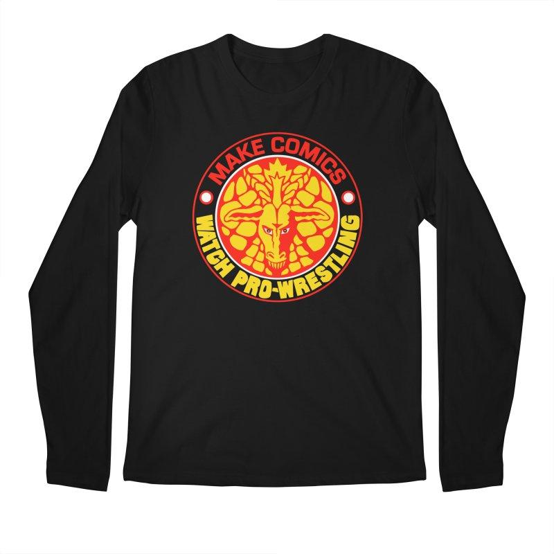 Make Comics, Watch Pro Wrestling Men's Longsleeve T-Shirt by JB Roe Artist Shop