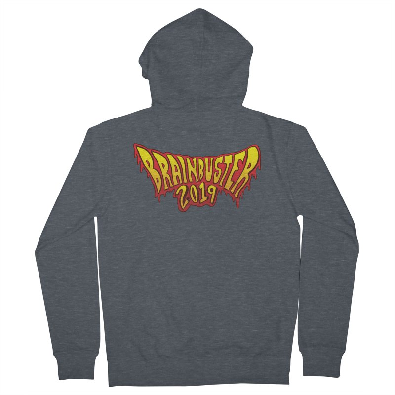 BRAINBUSTER 2019 Logo Men's French Terry Zip-Up Hoody by JB Roe Artist Shop