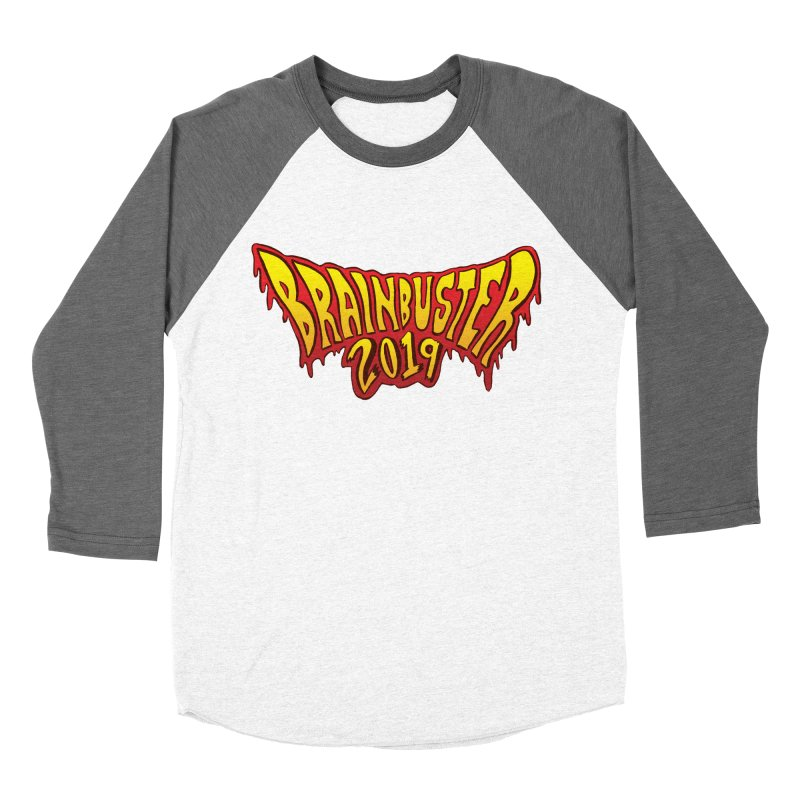 BRAINBUSTER 2019 Logo Men's Baseball Triblend Longsleeve T-Shirt by JB Roe Artist Shop