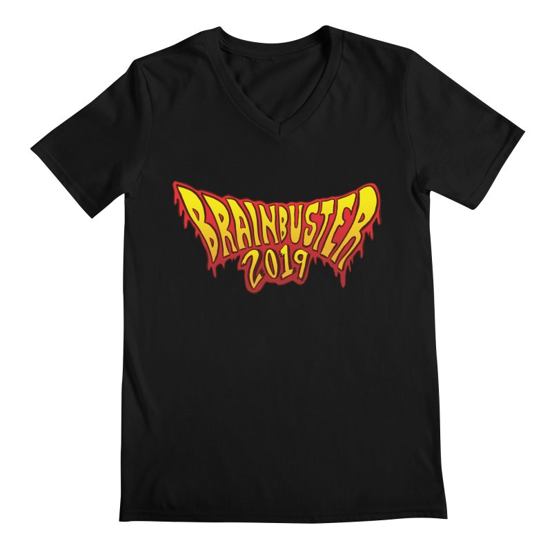 BRAINBUSTER 2019 Logo Men's Regular V-Neck by JB Roe Artist Shop