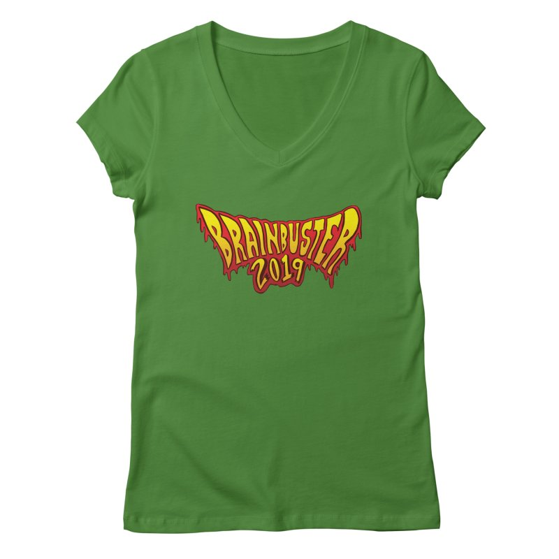 BRAINBUSTER 2019 Logo Women's Regular V-Neck by JB Roe Artist Shop