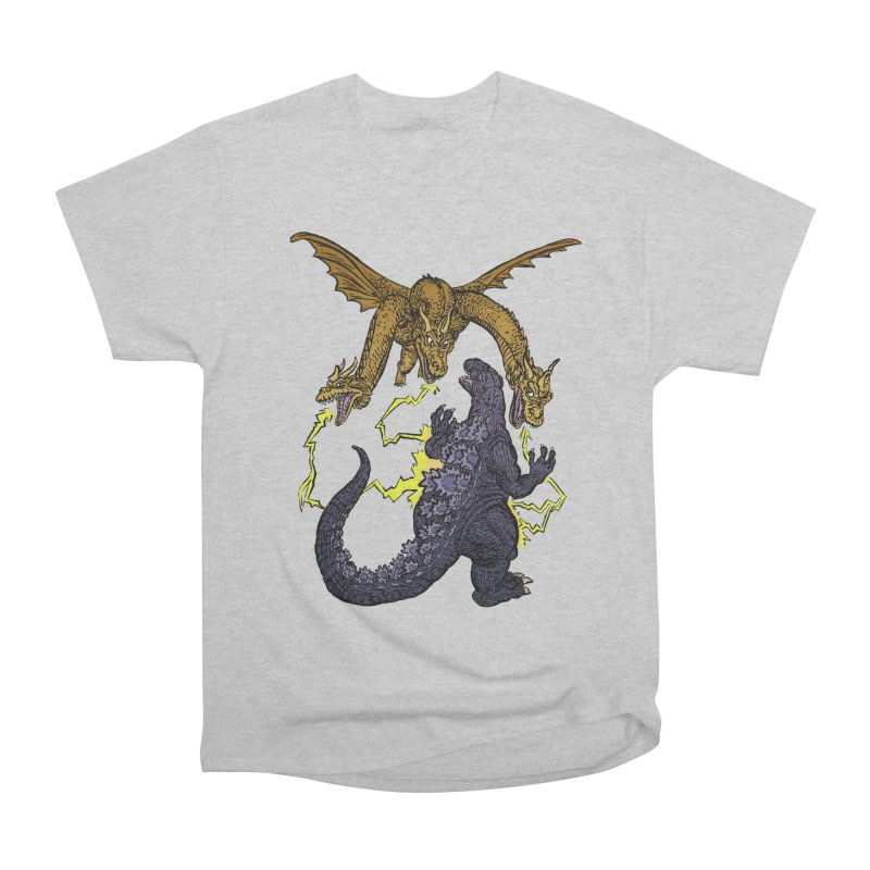 Kaiju Fight Men's T-Shirt by JB Roe Artist Shop